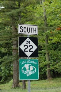 M22 Michigan Road Sign