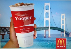 McDonalds Pure Michigan Yooper Coca Cola Cup mackinac bridge