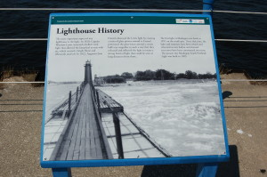 Muskegon South Breakwater Light History Sign