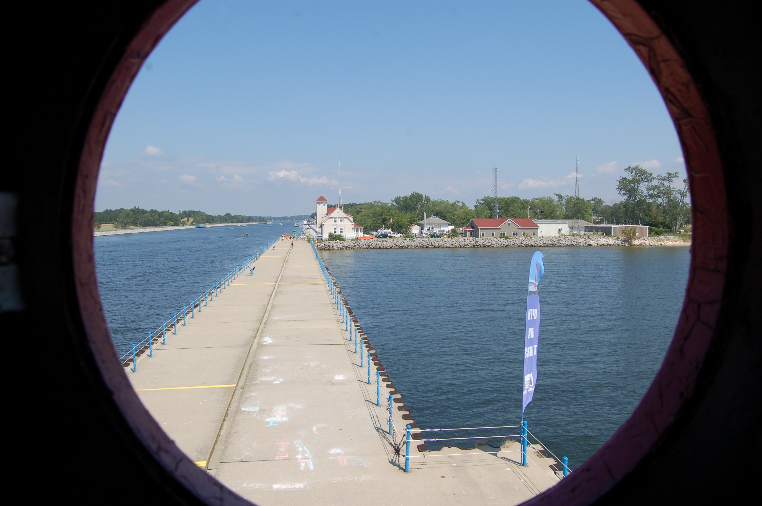 Muskegon South Pierhead Light Porthole View