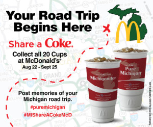 Pure Michigan Share a Coke McDonalds