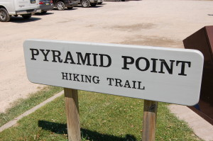 Pyramid Point Hiking Trail Sign
