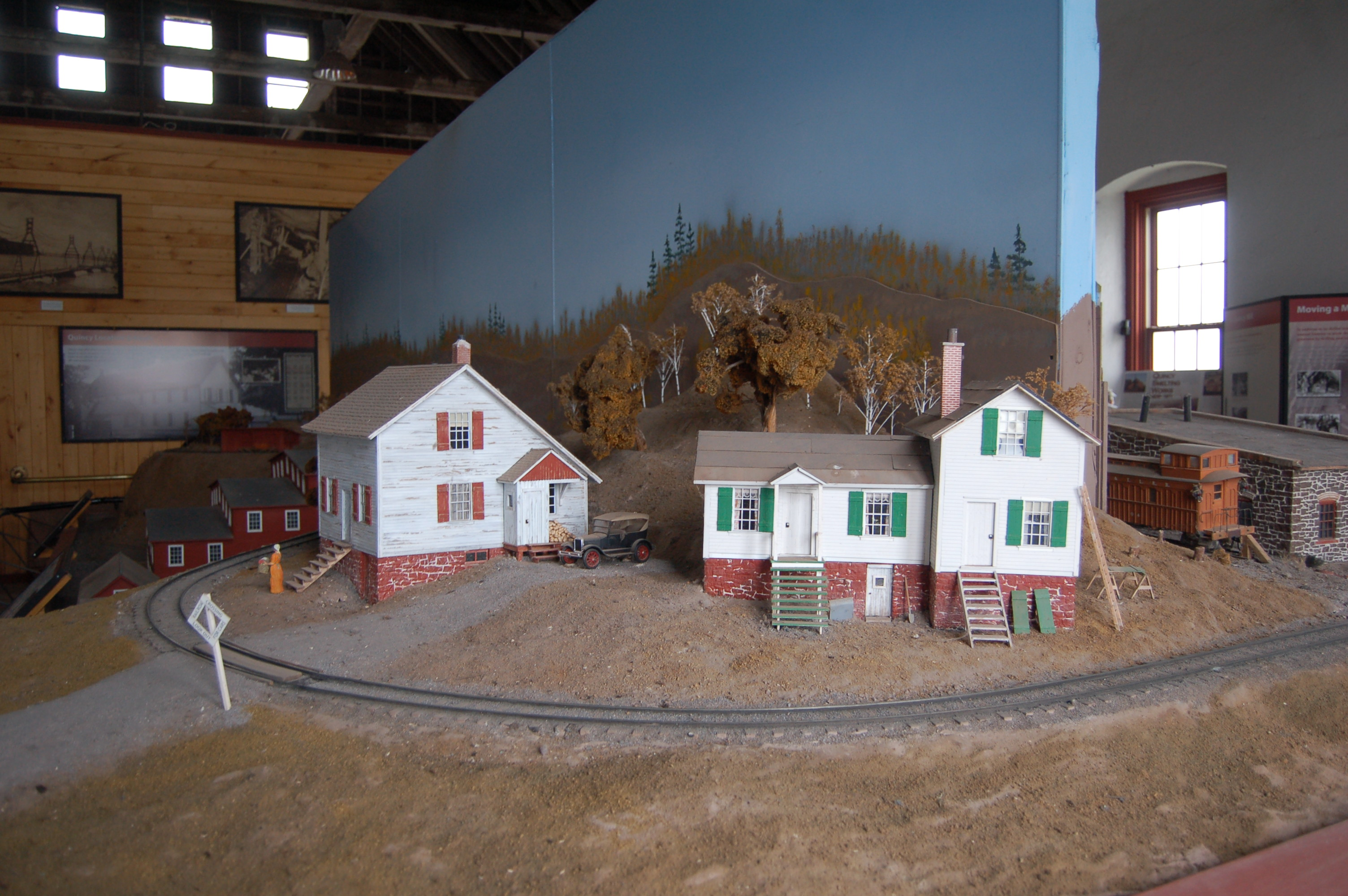 Quincy Mine Scale Models Village
