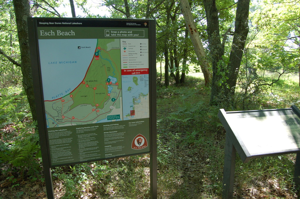 Sleeping Bear Dunes Esch Beach Sign