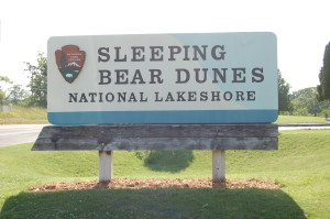 Sleeping Bear Dunes National Lakeshore Sign
