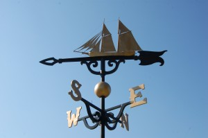 Worlds Largest Weather Vane Schooner Top