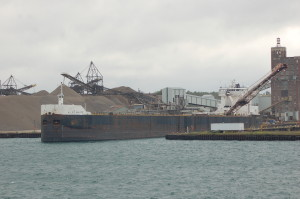 Calcite Michigan Freighter View Loading