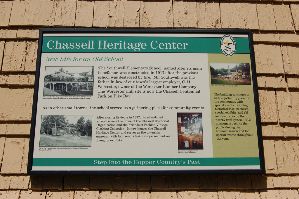 Chassell Heritage Center Sign