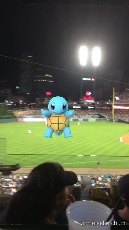 Comerica Park Pokemon Go Squirtle
