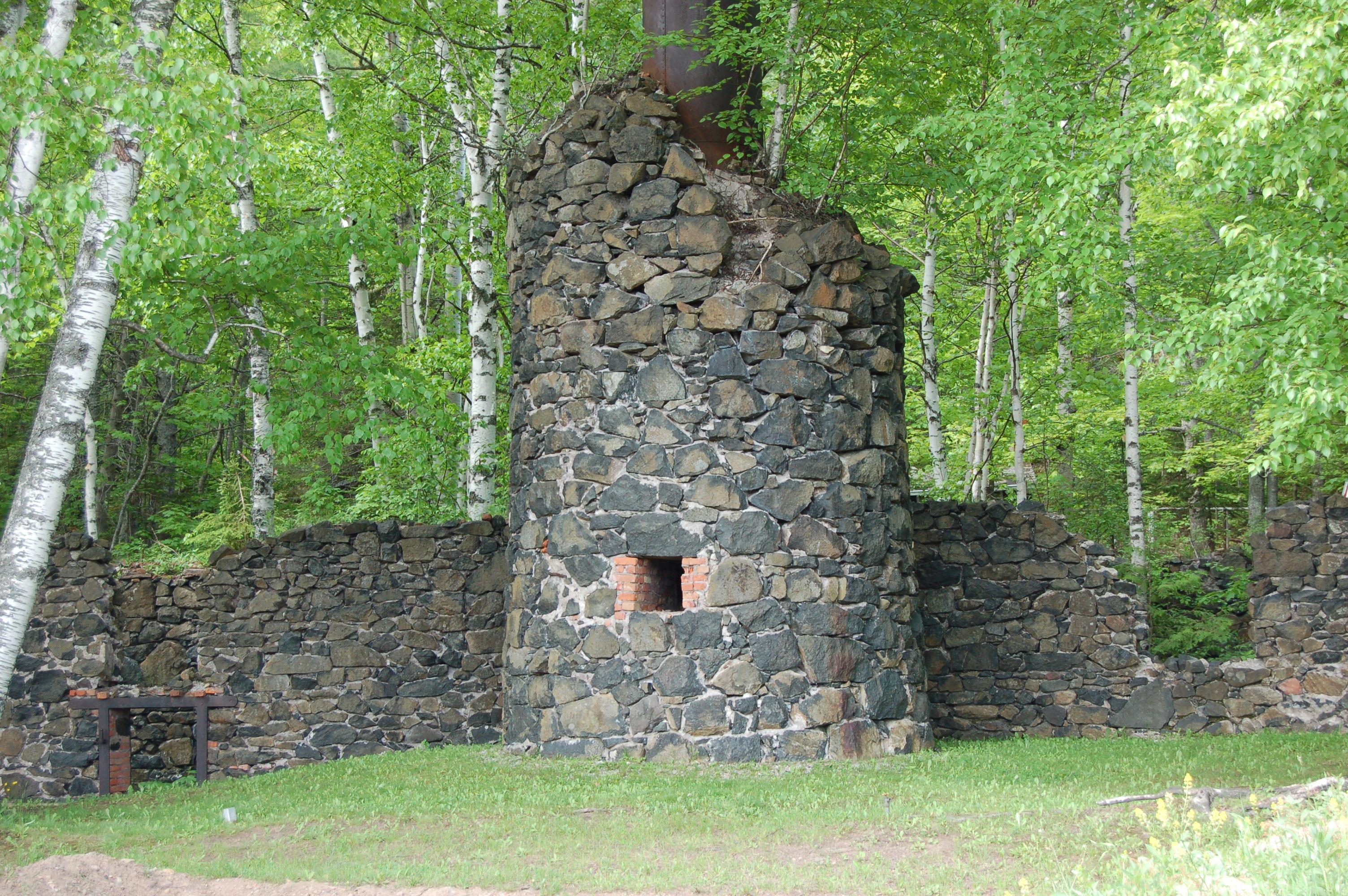 Delaware Mine Ruins Smokestack