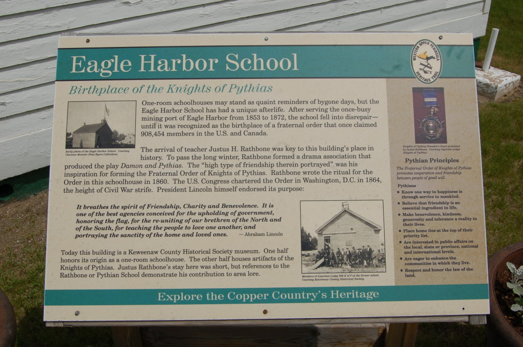 Eagle Harbor School Sign