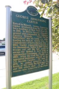 George Armstrong Custer Michigan Marker Monroe