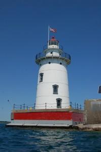 Harbor Beach Lighthouse MI vertical