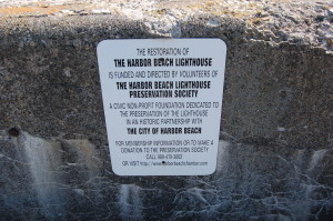 Harbor Beach Lighthouse Sign