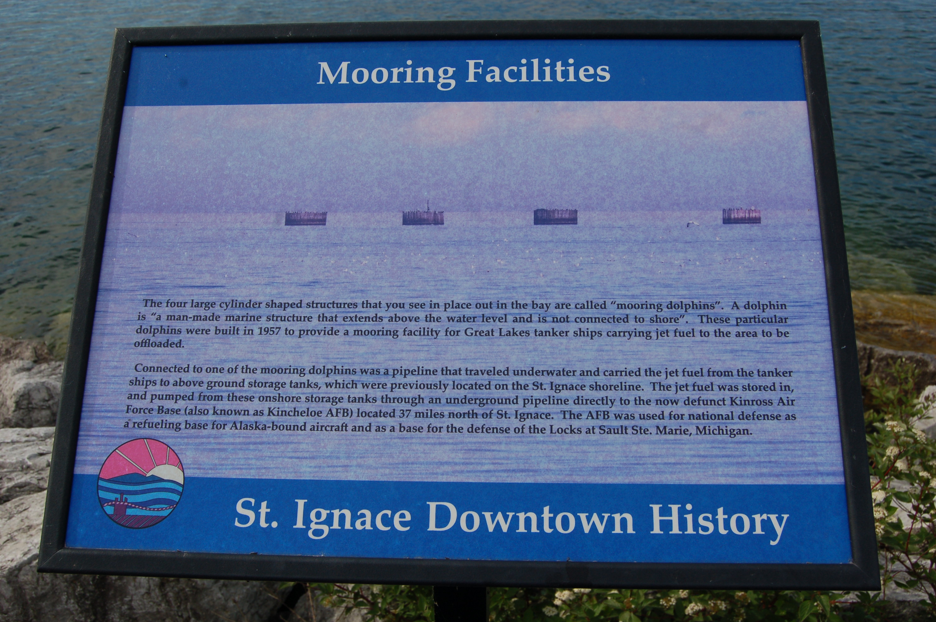 Mooring Sign St. Ignace Harbor