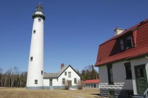 New Presque Isle Lighthouse Tower Michigan