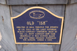 Old Ish Plaque Ishpeming Michigan
