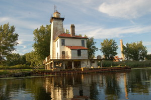 Saginaw River Range Lighthouse Bay City MI