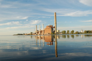 Saginaw River Reflection SC Johnson Factory