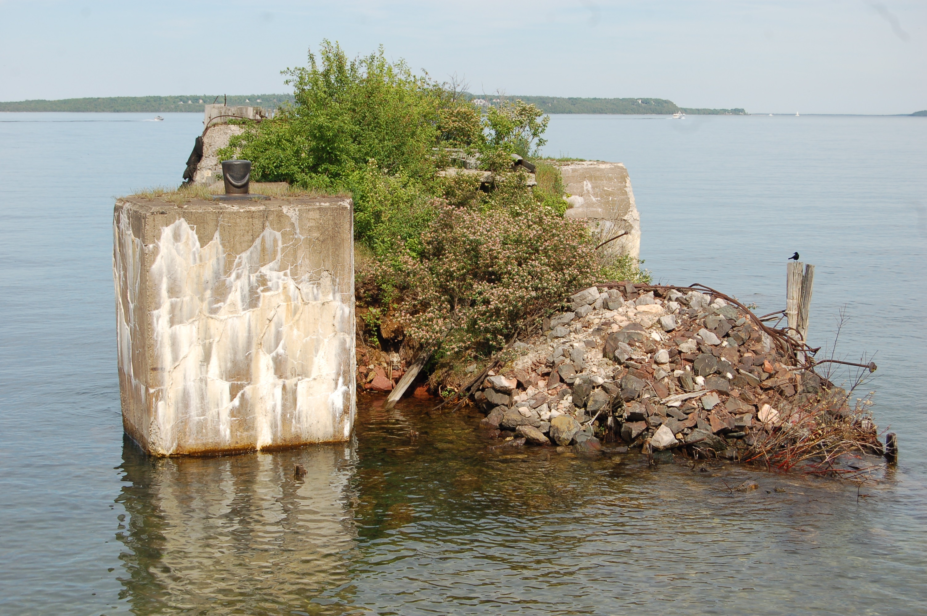 Wawatam Lighthouse Huron Ruins