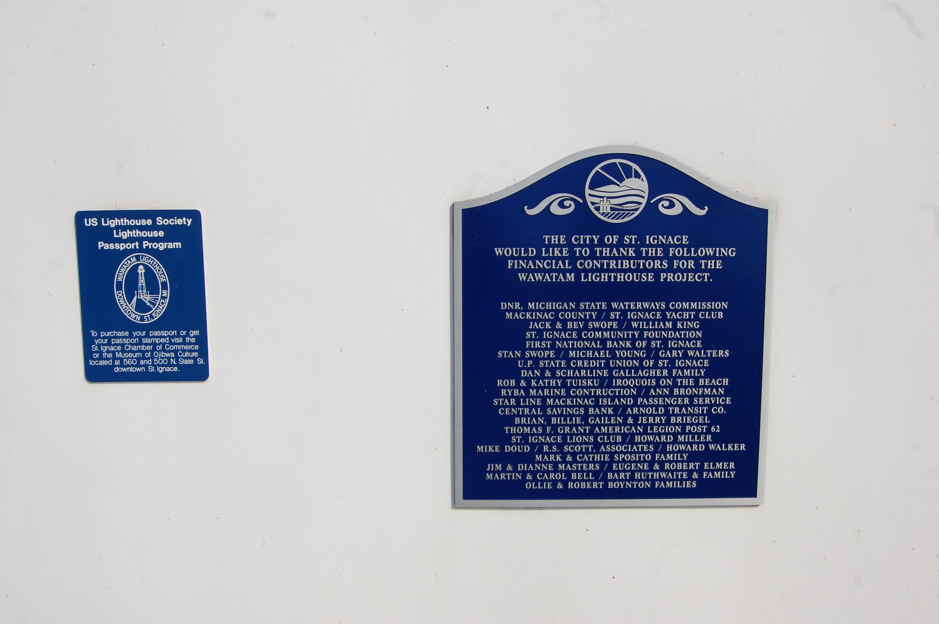 Wawatam Lighthouse Plaques