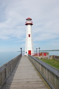Wawatam Lighthouse St. Ignace Vertical