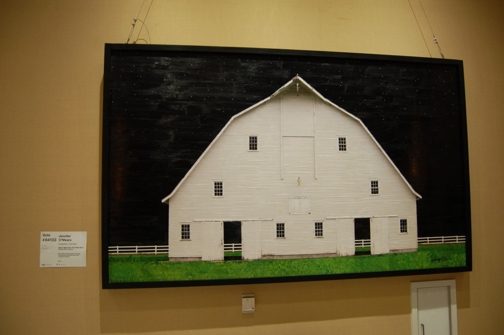 American Barn Revisited - Starry Night Over the White Barn by Jennifer O'Meara