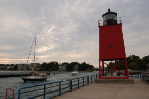 Charlevoix South Pier Lighthouse Michigan