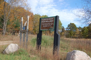 High Rollway Sign MI DNR Fall Color