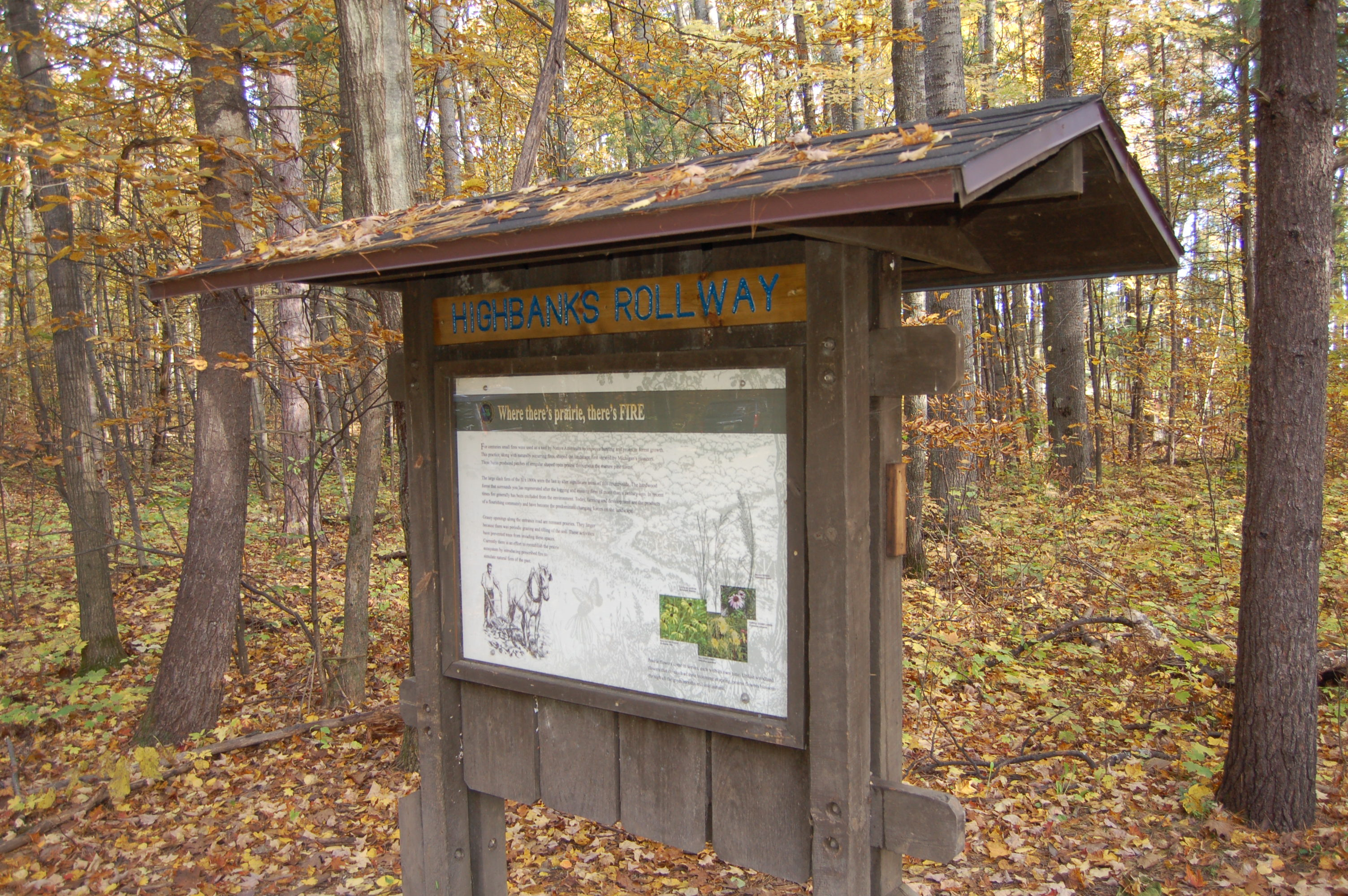 Highbank Rollway Sign Manistee River