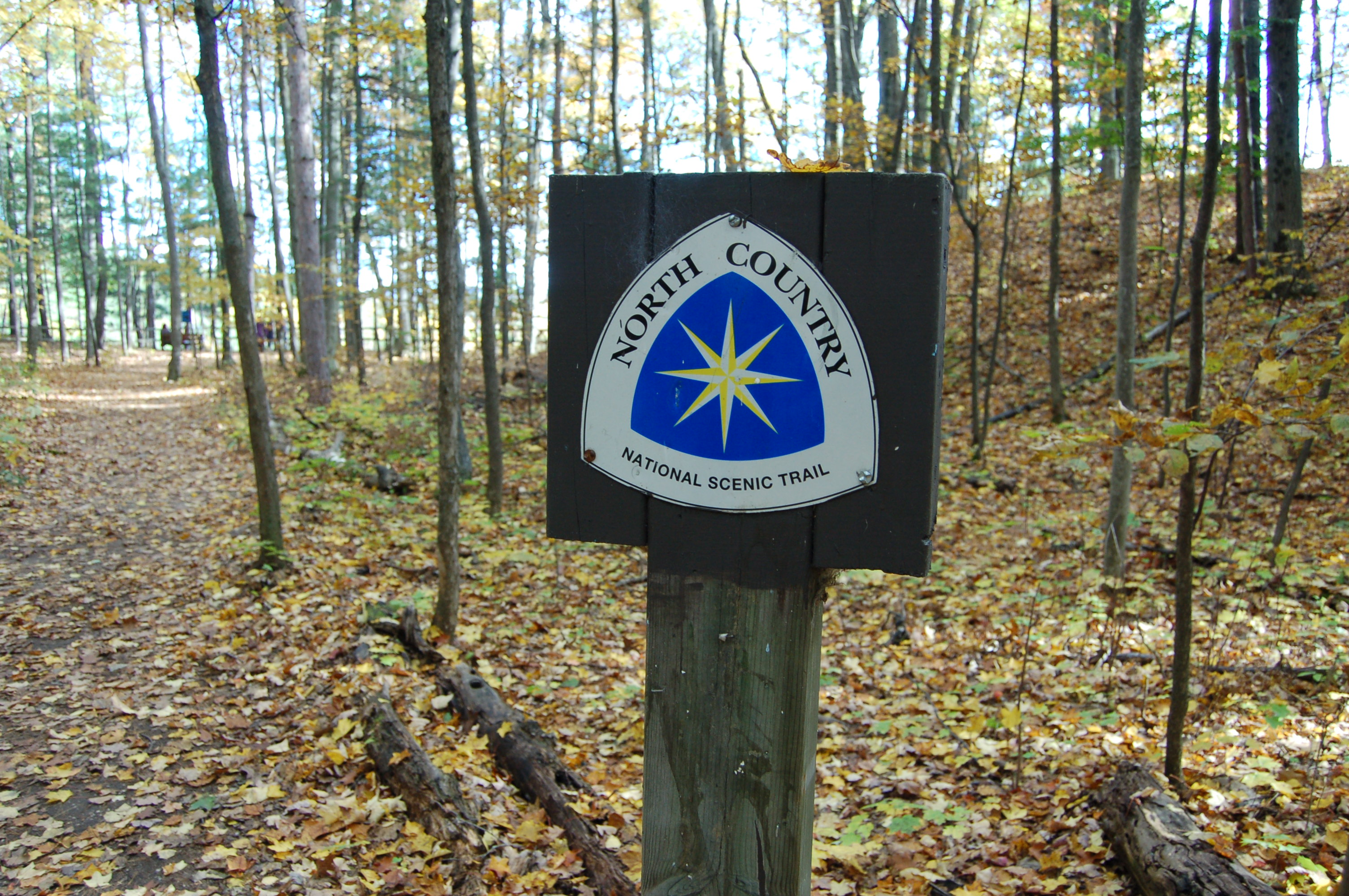North Country Trail Sign Michigan