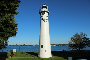 Peche Island Lighthouse Marine City Michigan