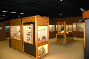 AE Seaman Mineral Museum Showcase Exhibits