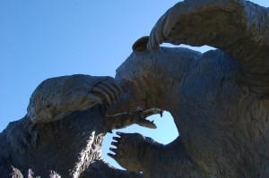 Bear Sculpture Cabelas Up Close MI