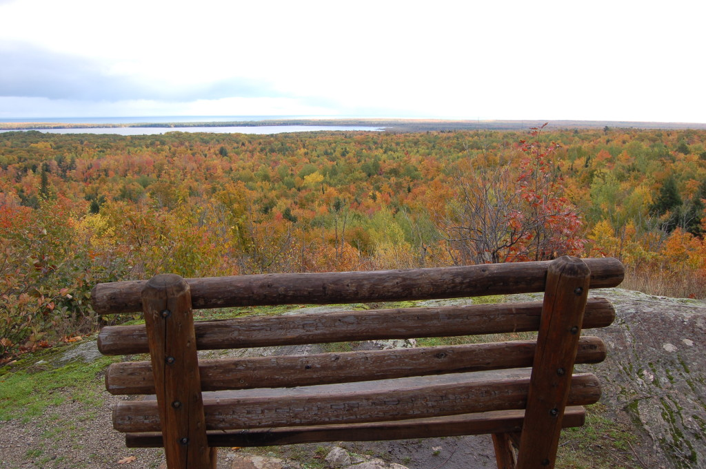 Fall Color Bench Thomas Rock Lake Superior