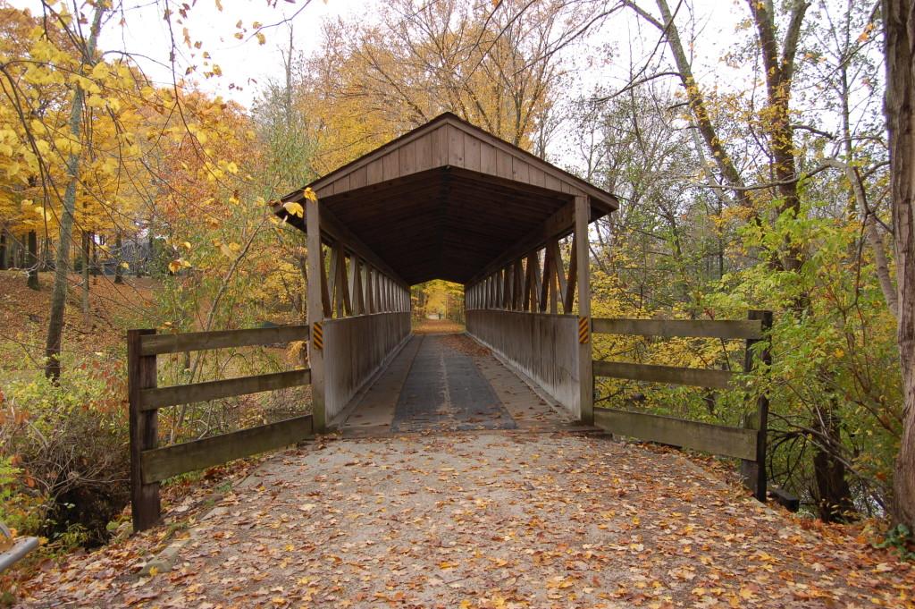 Fall Color Kal Haven Covered Bridge MI