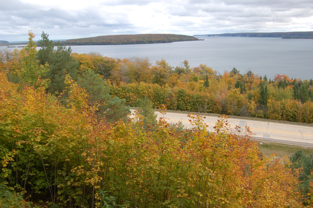 Fall Color Munising M28 Overlook