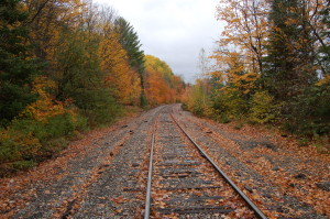 Fall Color Railroad Tracks Michigamme