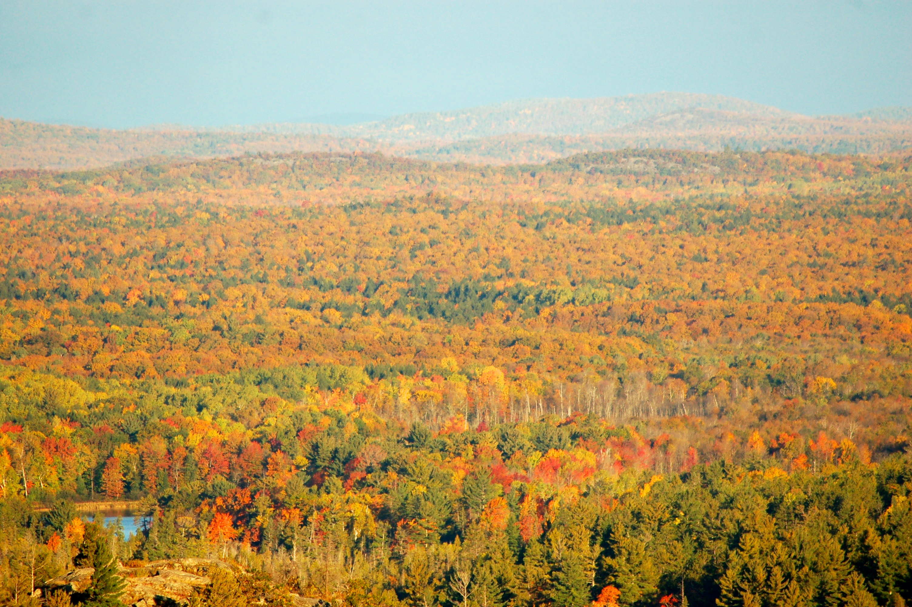 Fall Color View Sugarloaf Mountain Marquette