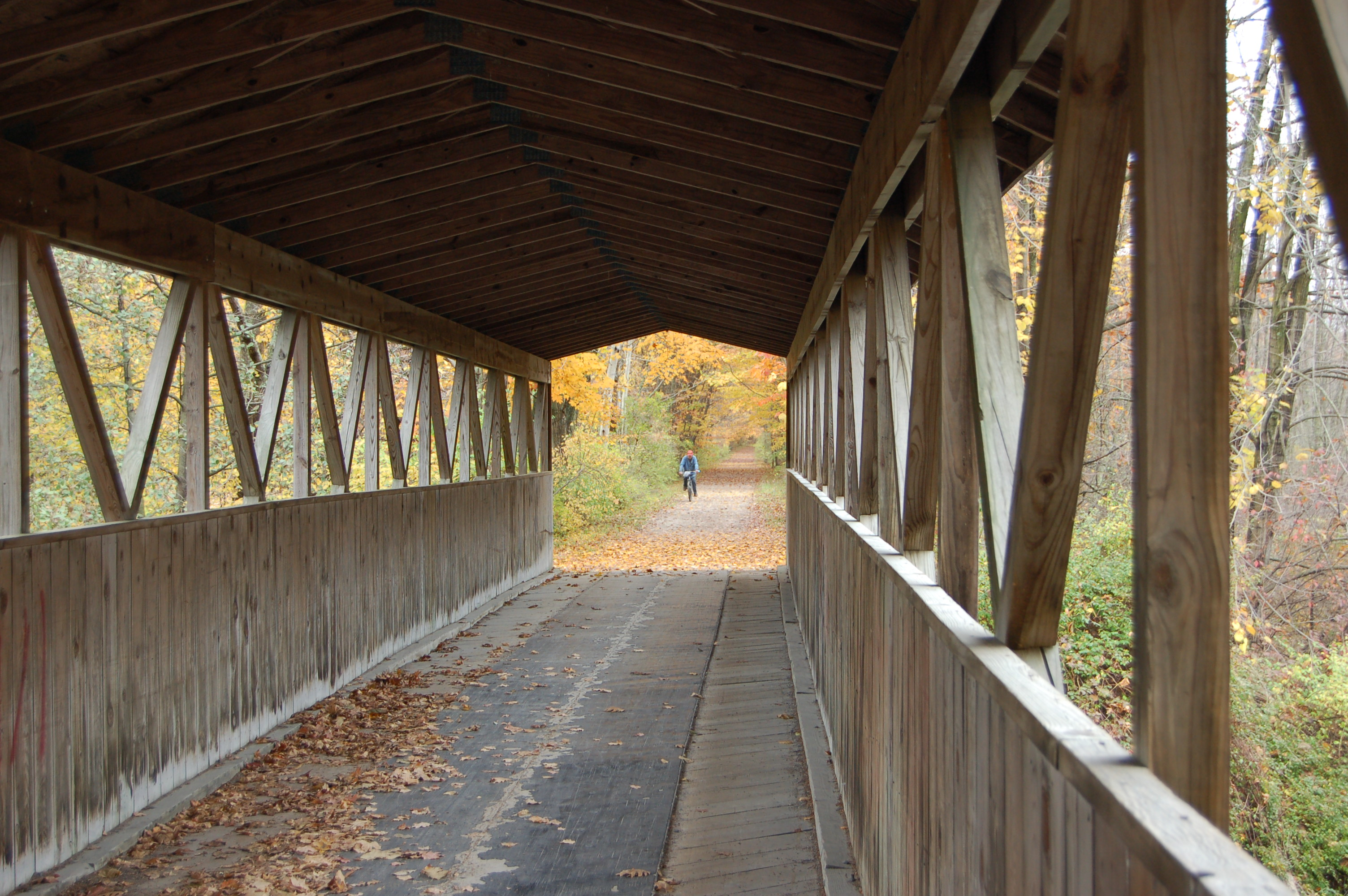 Kal Haven Trail Covered Bridge Michigan