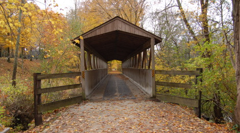 Fall Color in Michigan: Covered Bridges