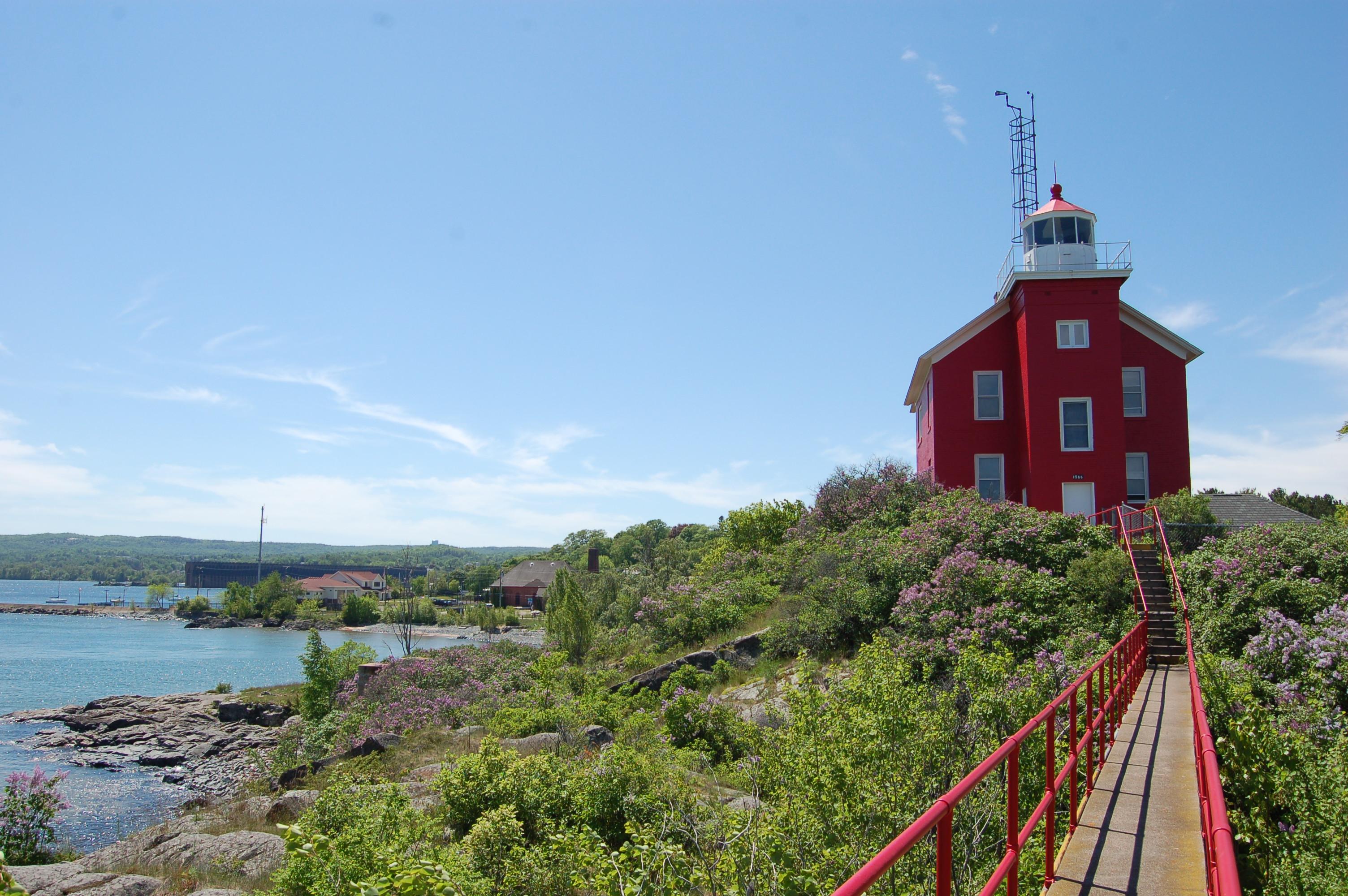 Marquette Harbor Lighthouse Michigan Lake Superior