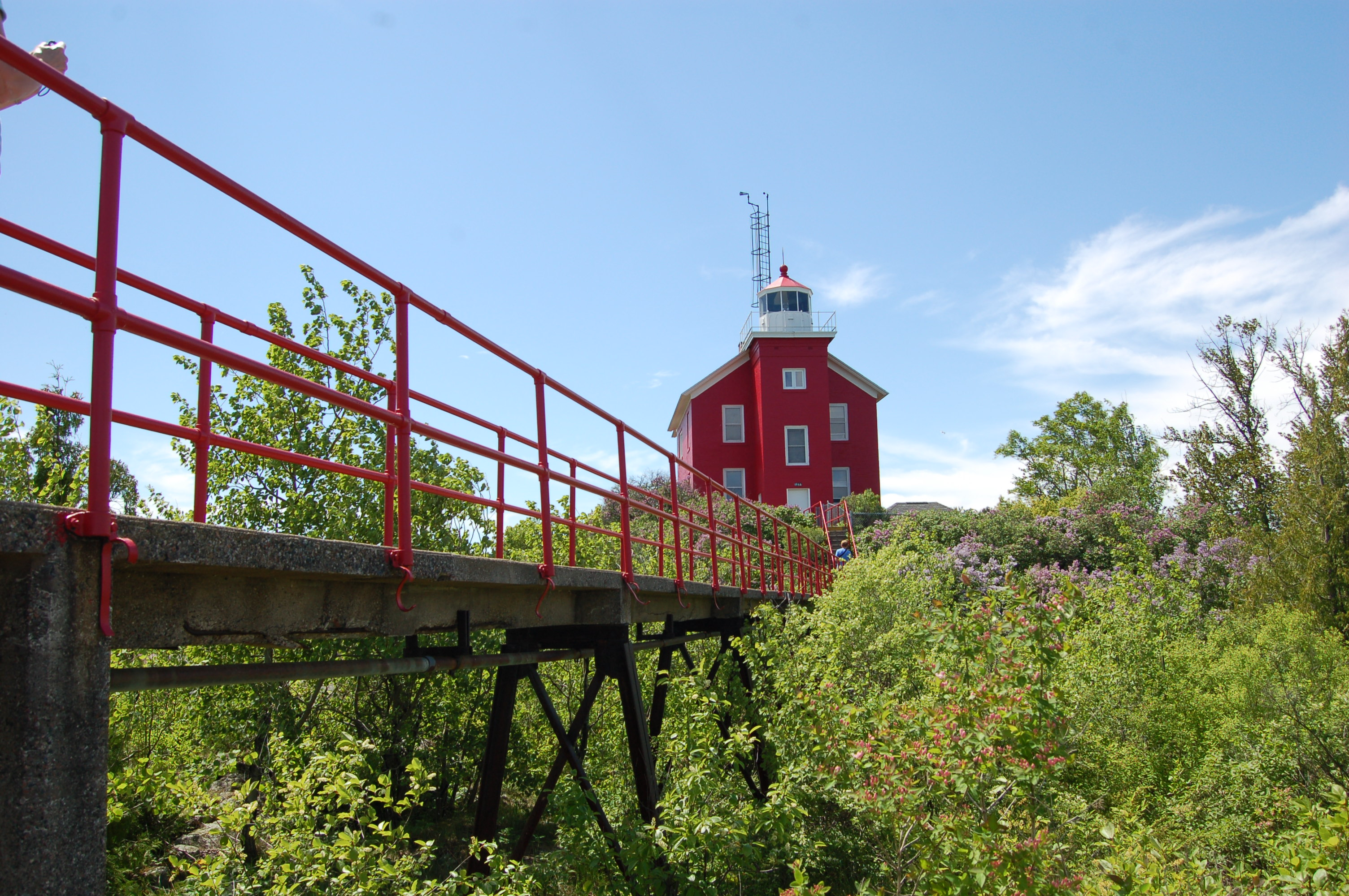 Marquette Harbor Lighthouse Stairway