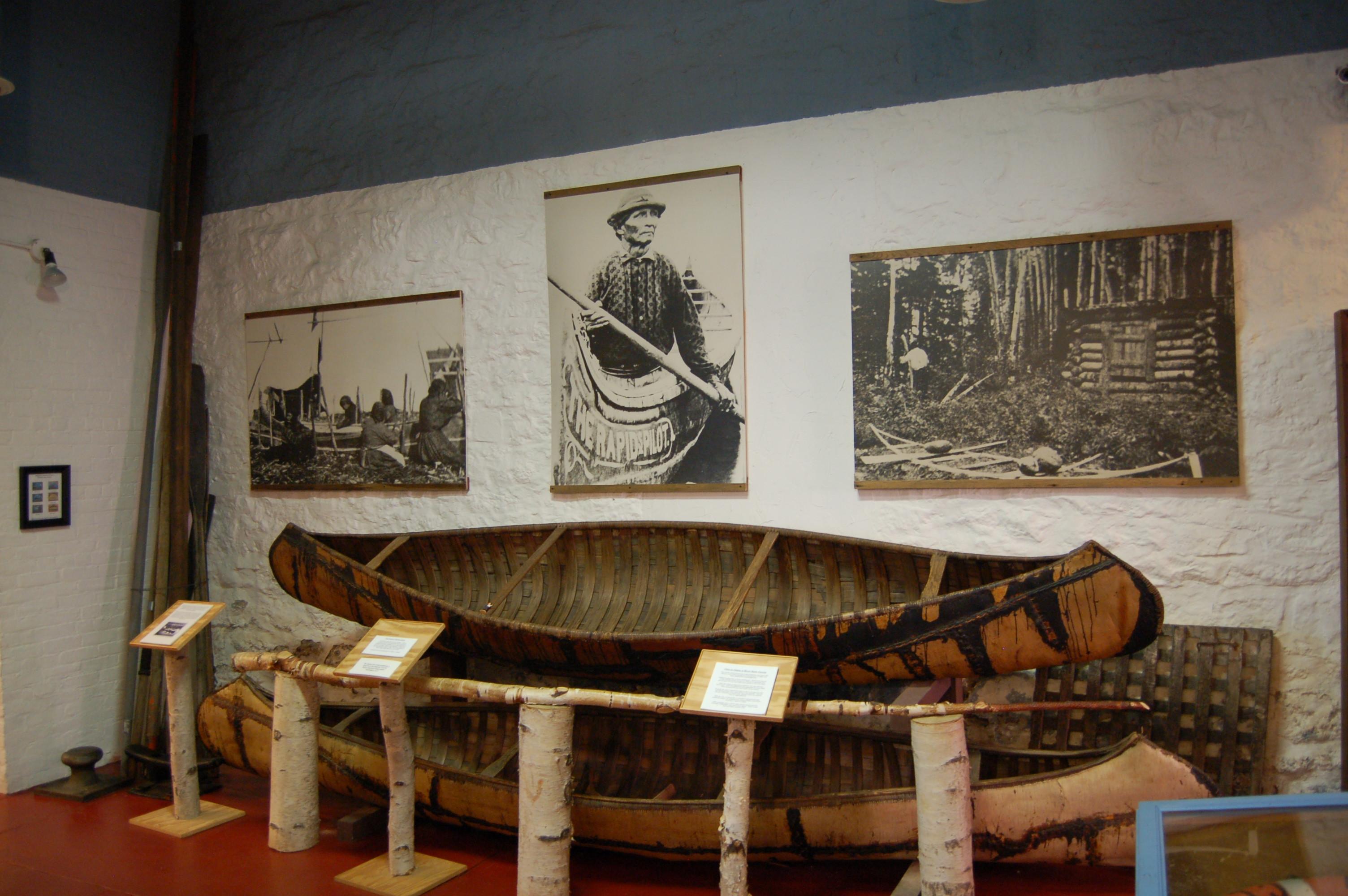 Marquette Maritime Museum Birchbark Canoe