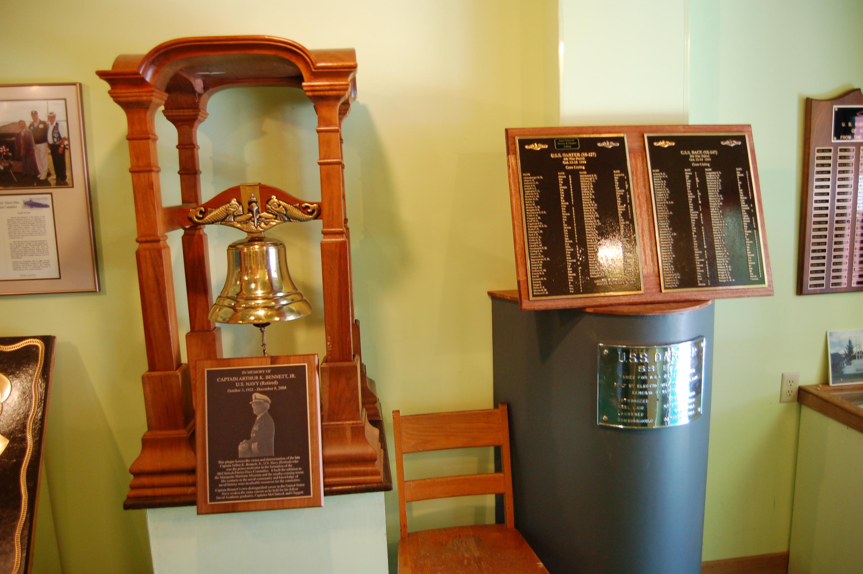 Marquette Maritime Museum McClintock Darter Dace Memorial