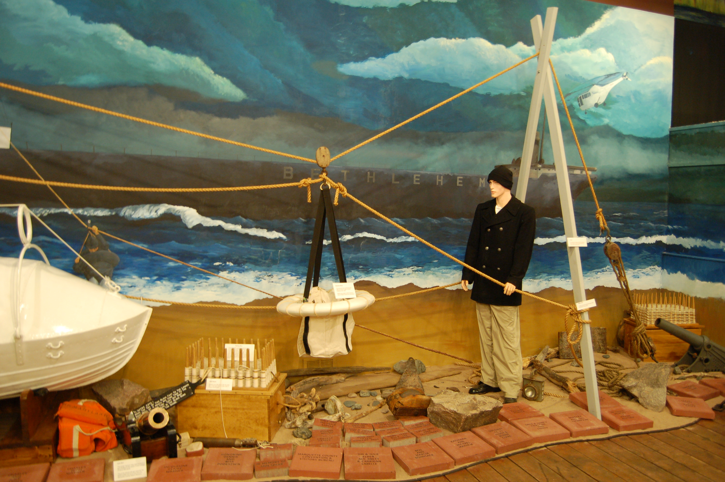 Marquette Maritime Museum Sailor Exhibit