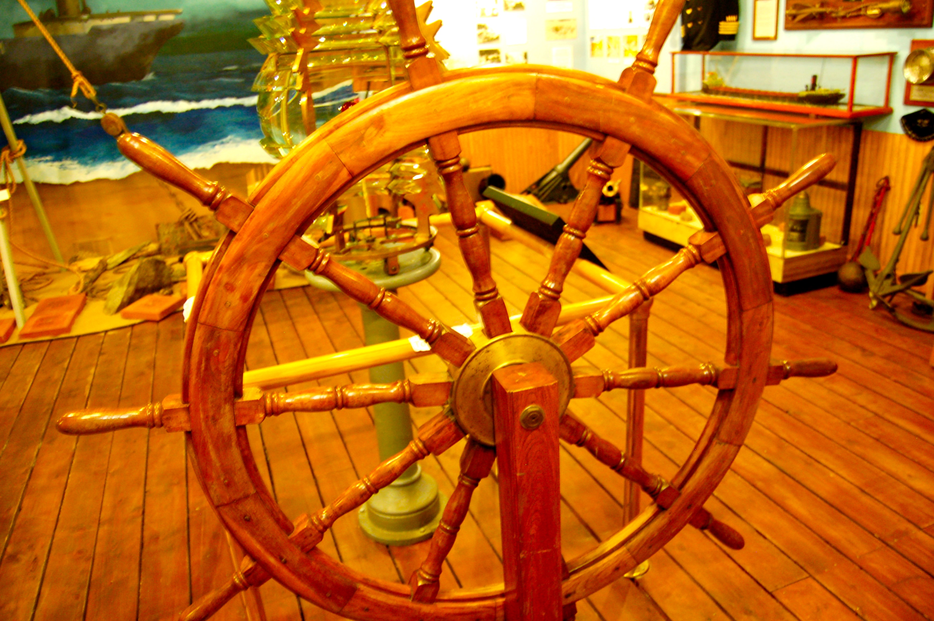 Marquette Maritime Museum Ships Wheel