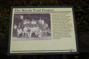 Sand Point Marsh Trail Sign Michigan