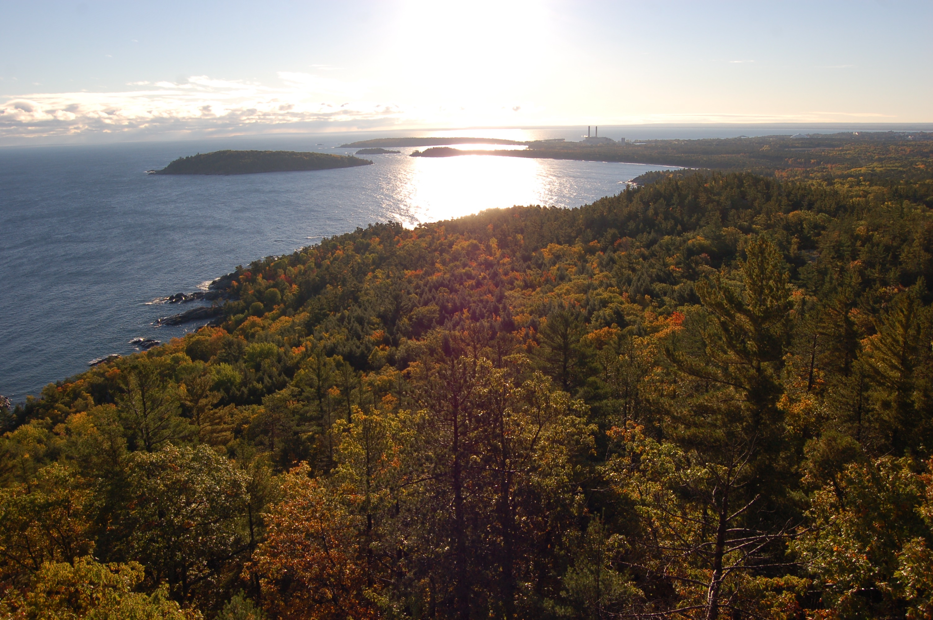 Sugarloaf Mountain Marquette Harbor View