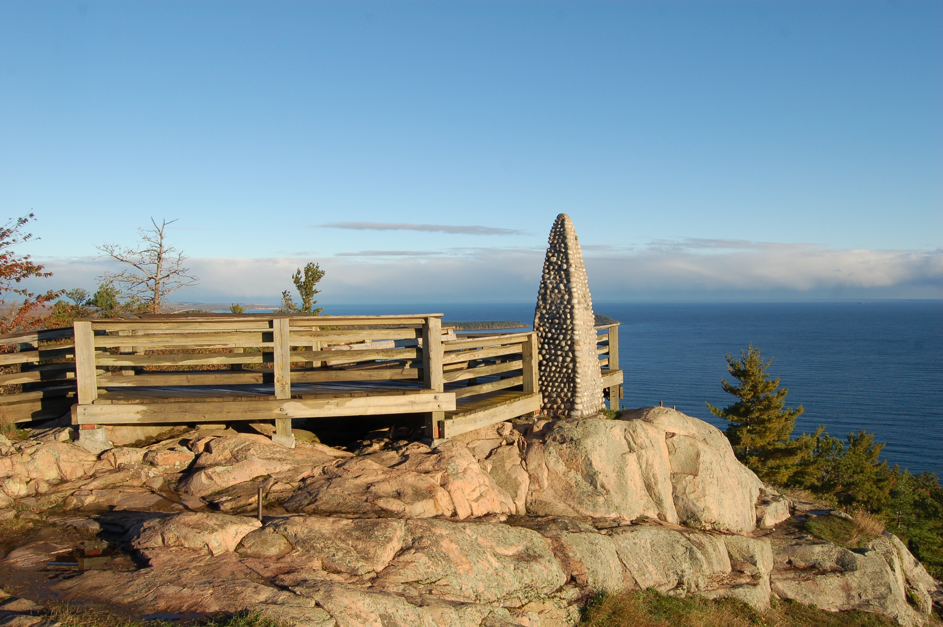 Sugarloaf Mountain Rock Cairn Marquette MI